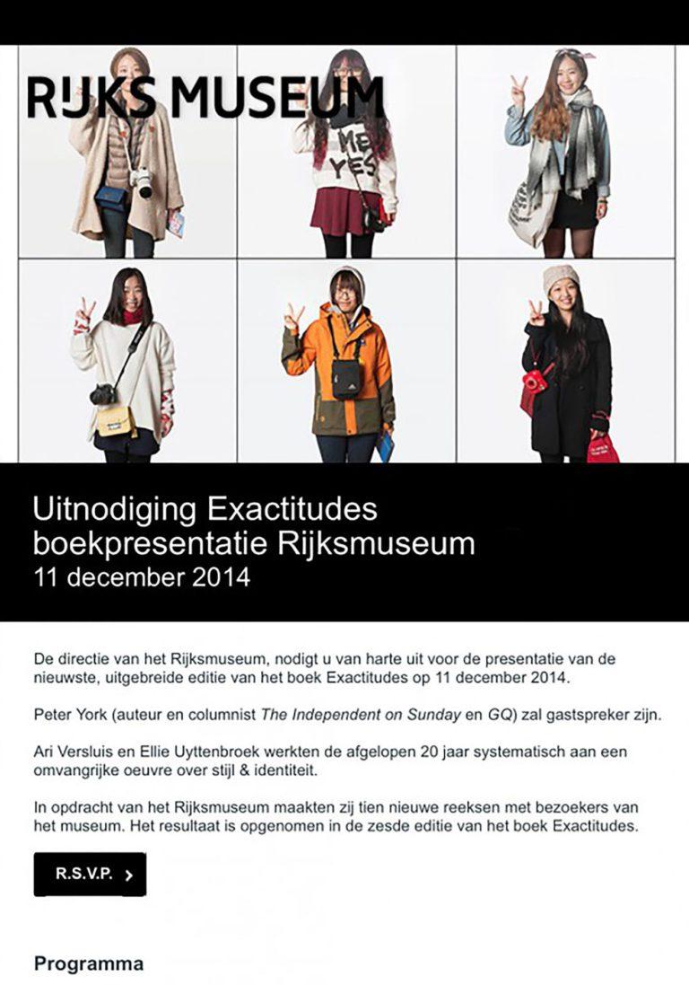 Booklaunch Exactitudes Rijksmuseum Edition