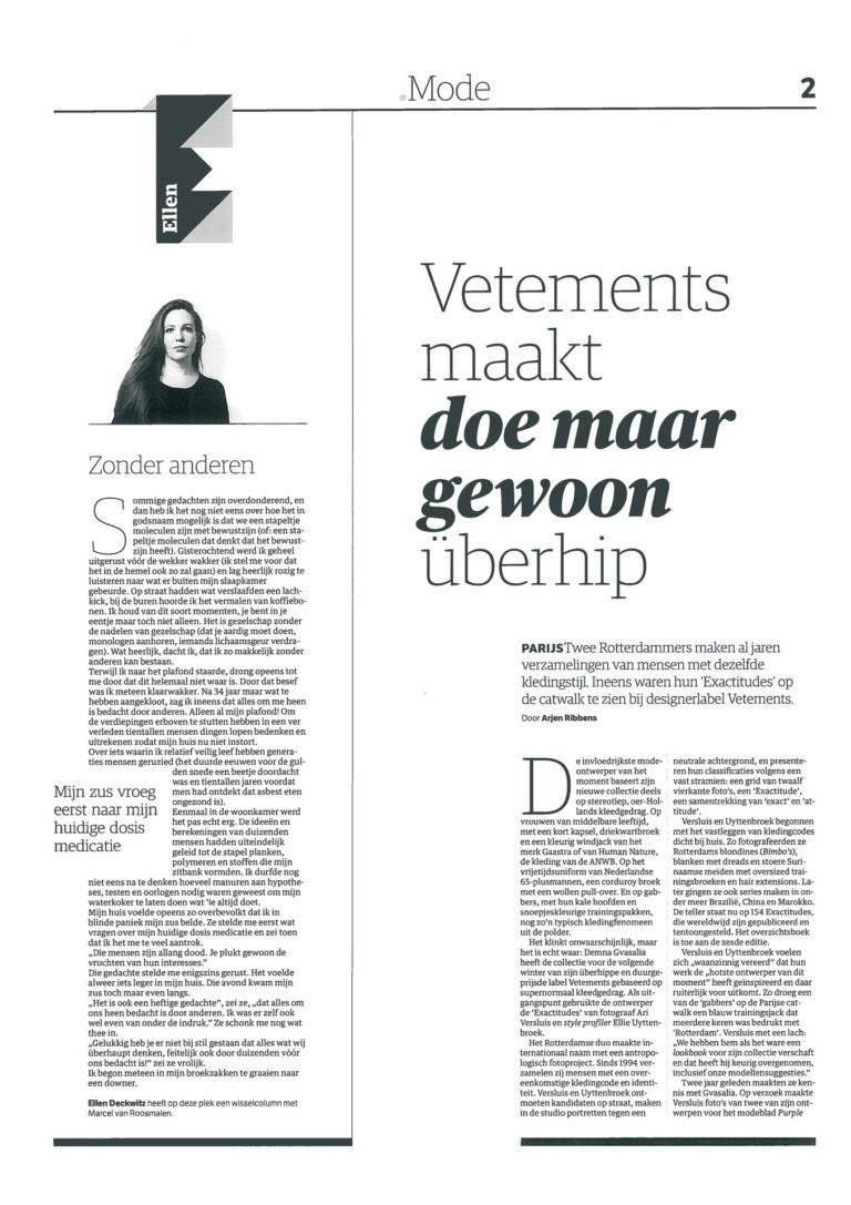 """Vetements maakt """"doe maar gewoon"""" überhip"""