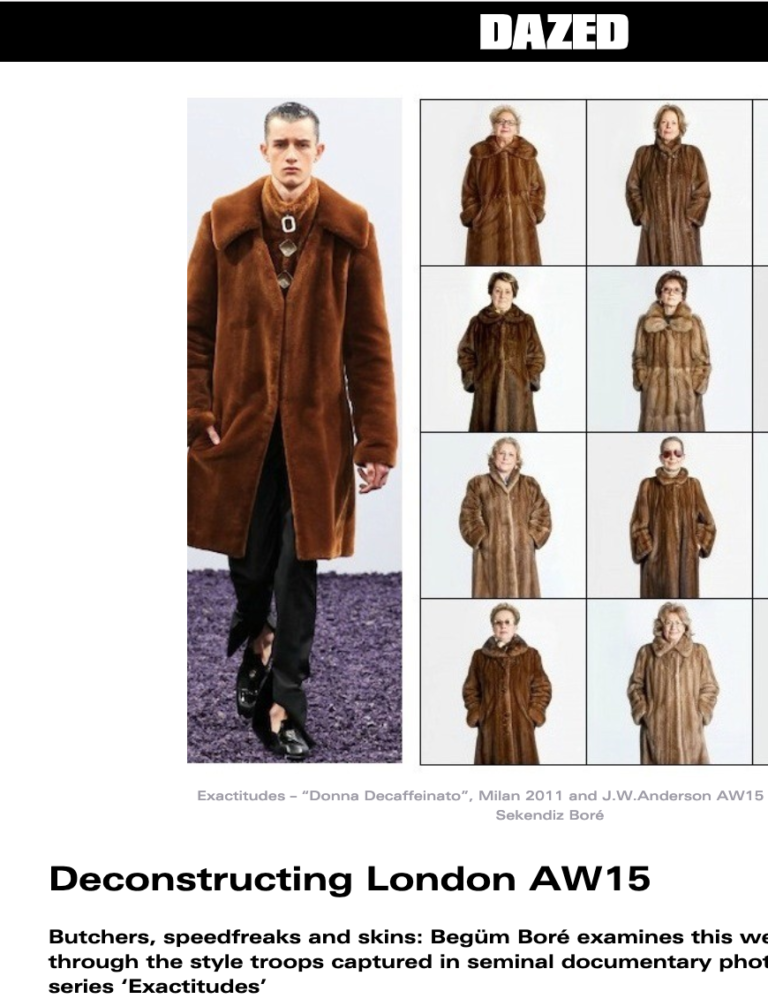 Deconstructing London AW 15